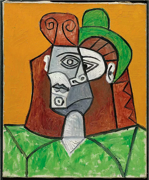 Picasso's 'Woman in a Green Hat' (1947) is in Yan Lugen's collection